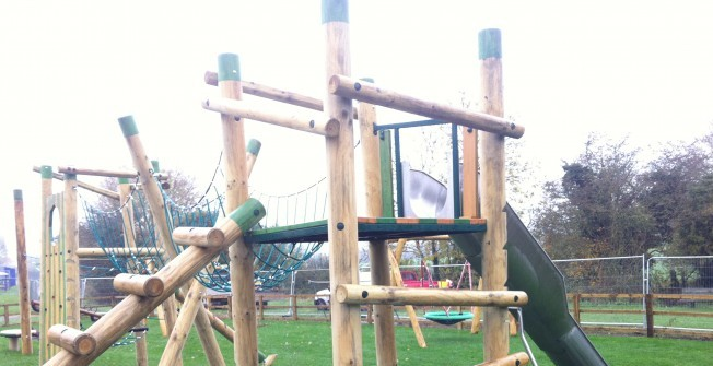 Wooden Playground Features in Bridgend