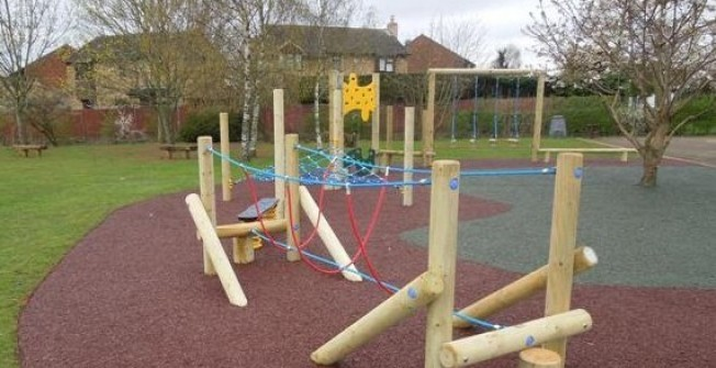 Timber Play Equipment Grants in Dungannon