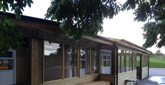 Wooden Classroom Facilities in Powys